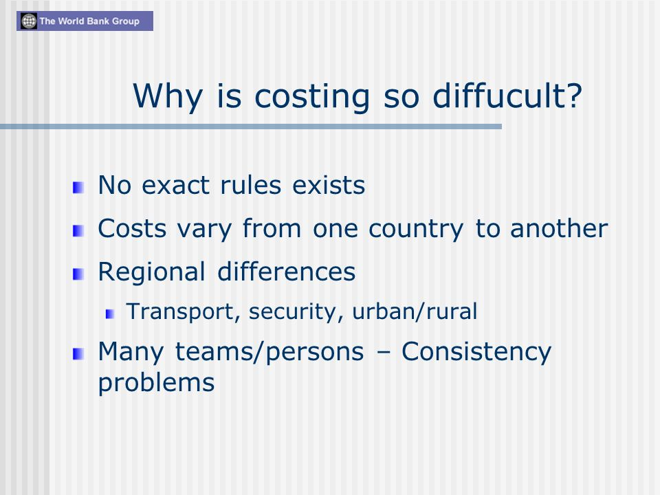 Why is costing so diffucult.