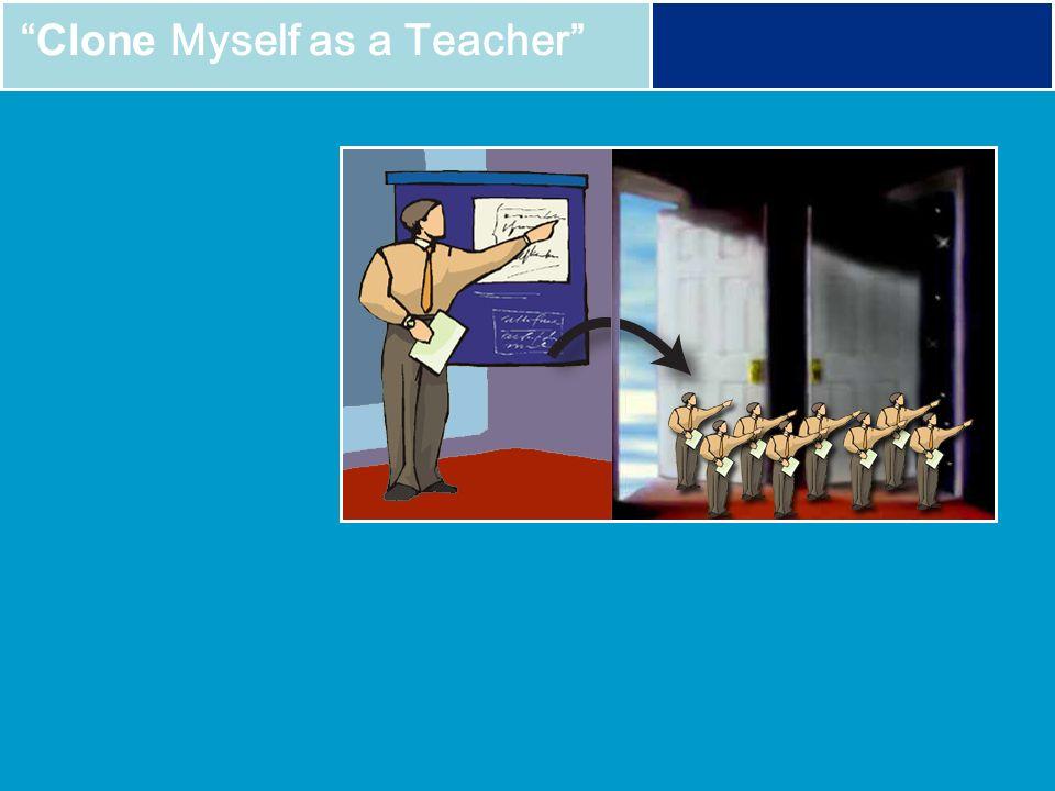 Clone Myself as a Teacher