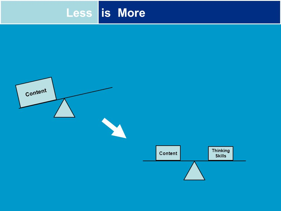 Lessis More Content Thinking Skills Content