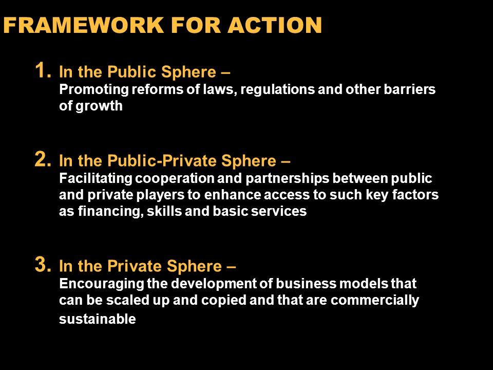 13 RECOMMENDED ACTIONS To ensure progress towards the MDGs, all stakeholdersgovernments, development institutions, the private sector and civil society need to collaborate more effectively and expand the use of private sector capabilities in meeting development objectives.