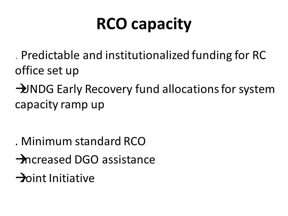RCO capacity.