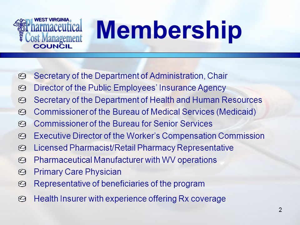 2 Secretary of the Department of Administration, Chair Director of the Public Employees Insurance Agency Secretary of the Department of Health and Hum