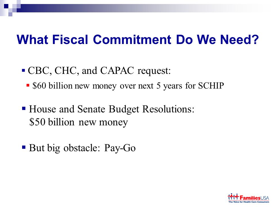 What Fiscal Commitment Do We Need.