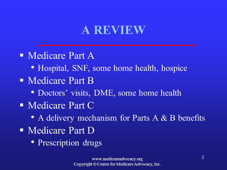 Copyright © Center for Medicare Advocacy, Inc.