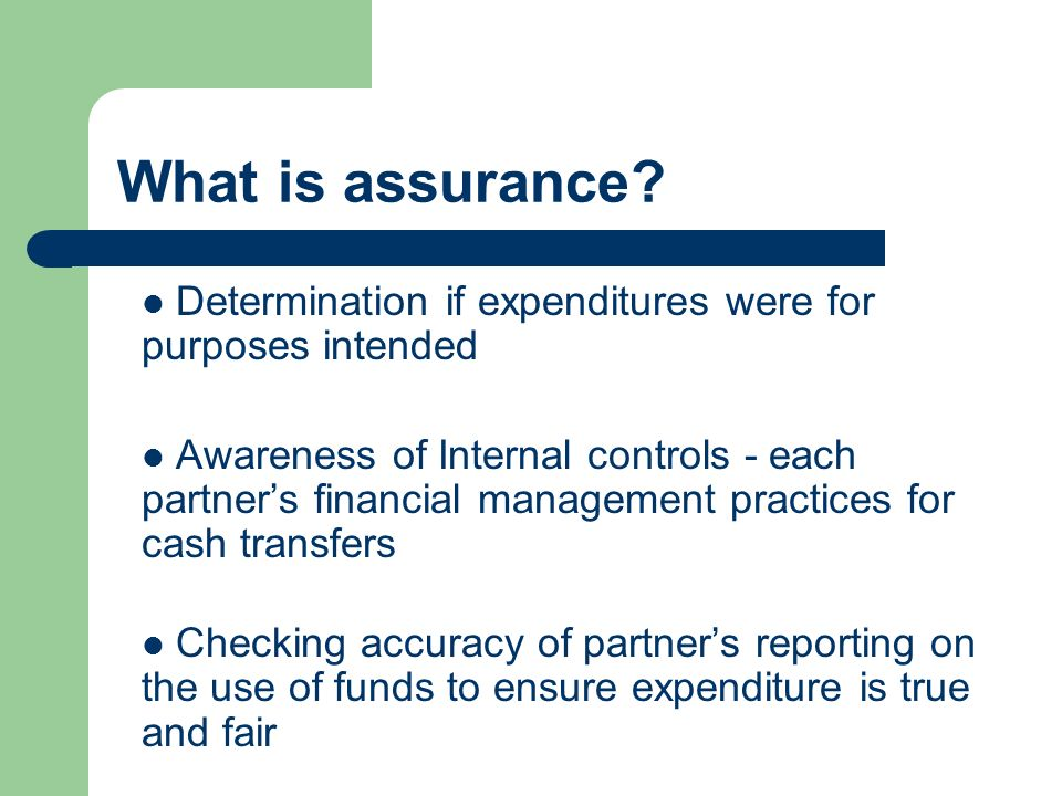 What is assurance.