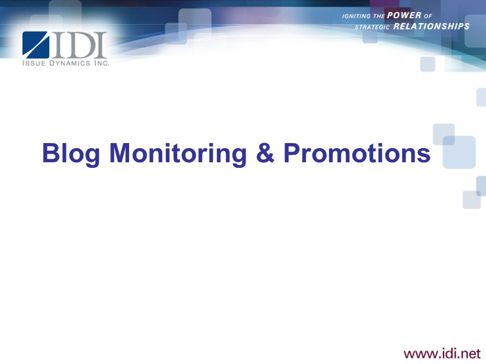 Blog Monitoring & Promotions