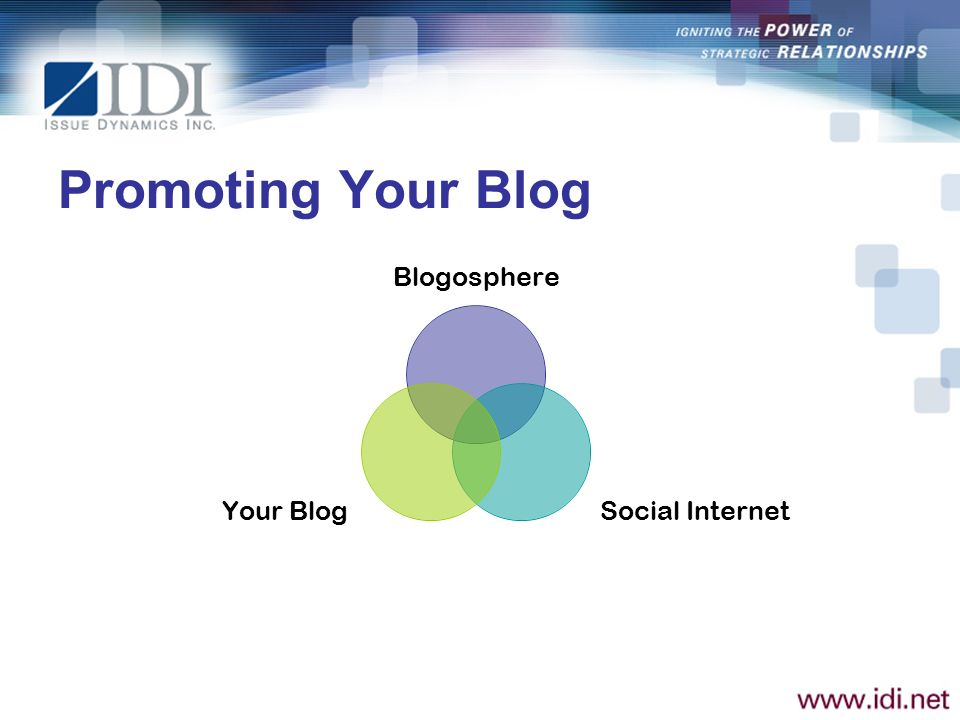 Promoting Your Blog Blogosphere Social Internet Your Blog