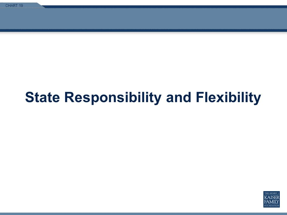 CHART 19 State Responsibility and Flexibility