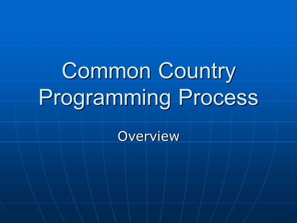 Common Country Programming Process Overview