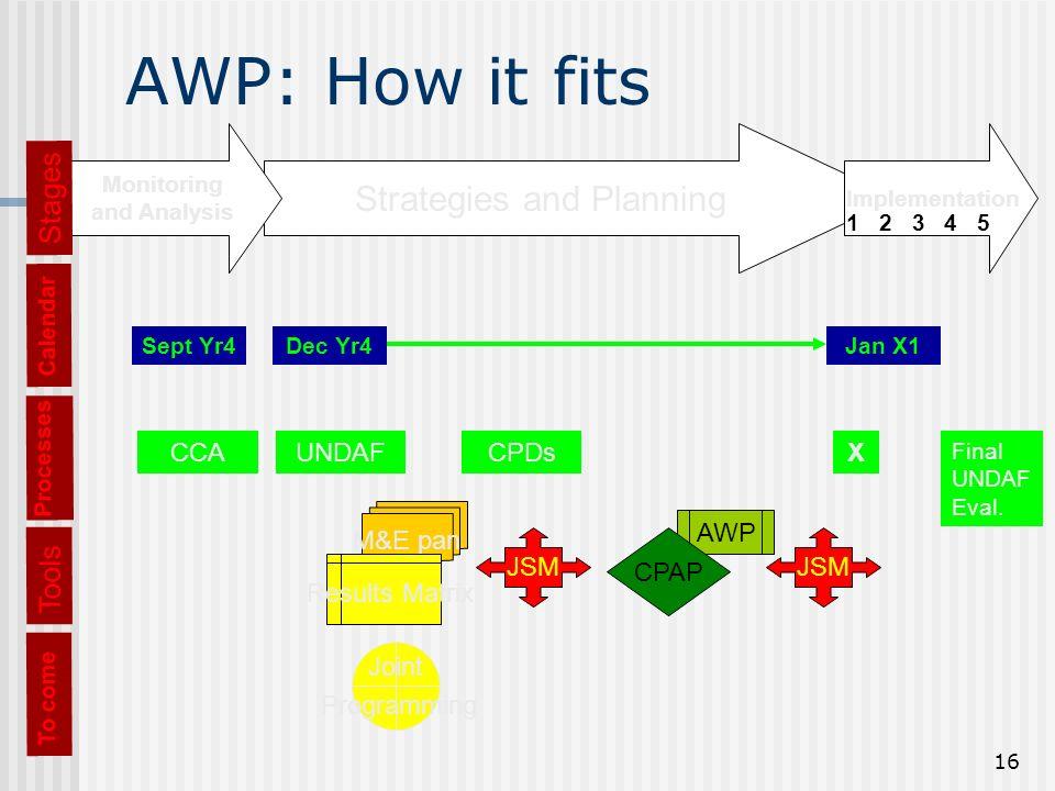 16 AWP: How it fits Processes CCAUNDAFCPDsX Final UNDAF Eval.