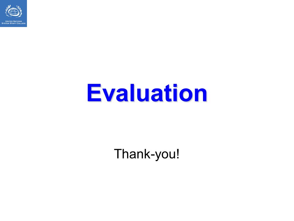 Evaluation Thank-you!