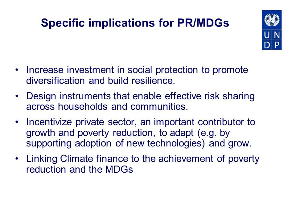 Increase investment in social protection to promote diversification and build resilience.