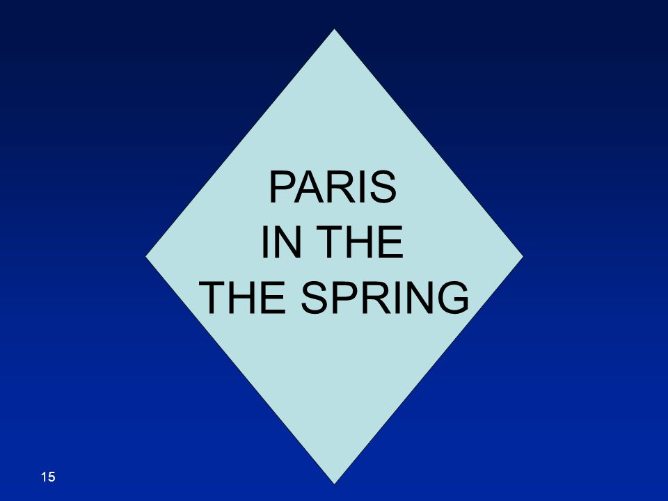 PARIS IN THE THE SPRING 15