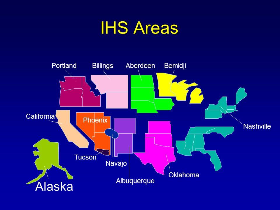 IHS Areas Albuquerque PortlandBillings California Phoenix Oklahoma Nashville Navajo Tucson Alaska AberdeenBemidji