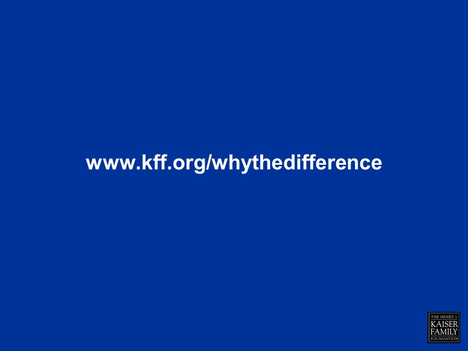 www.kff.org/whythedifference
