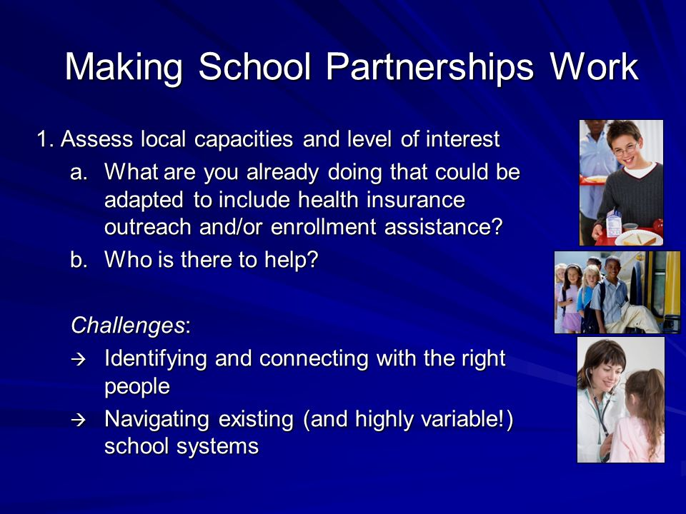 Making School Partnerships Work 1.