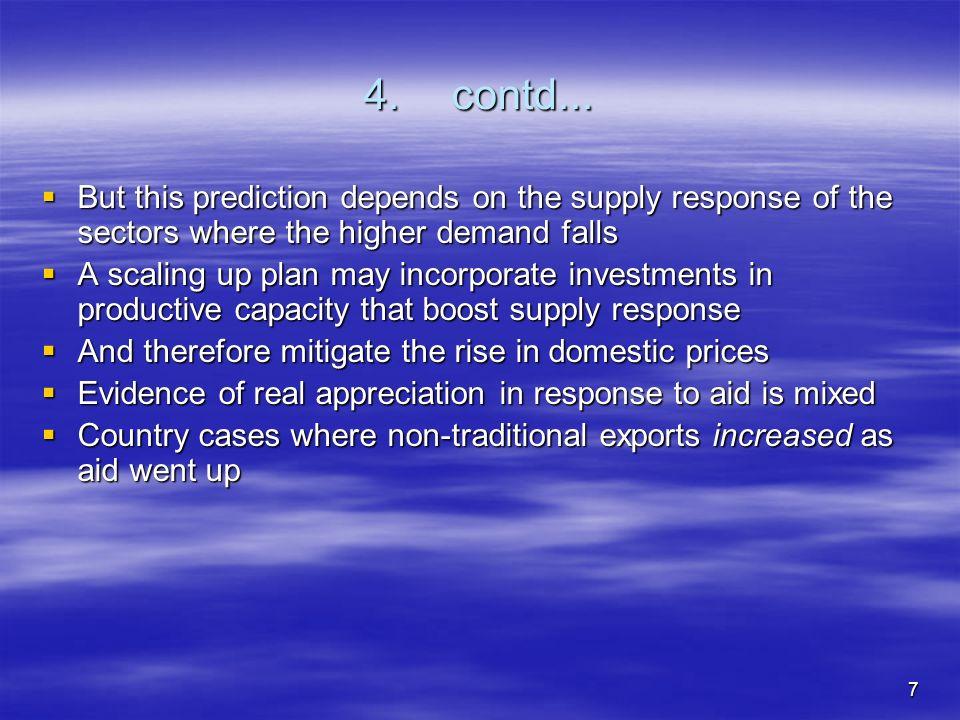 8 4.contd... Some studies of exchange rate impact