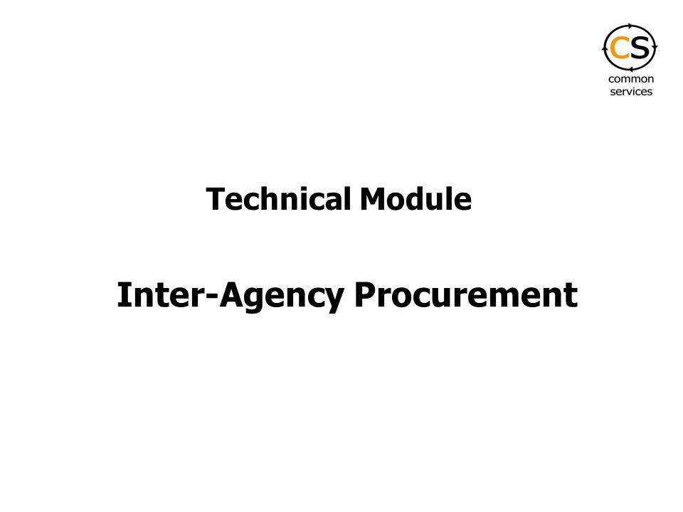 Inter-Agency Procurement Technical Module