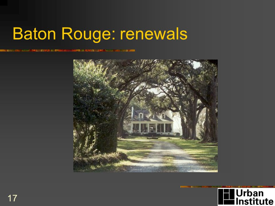 17 Baton Rouge: renewals