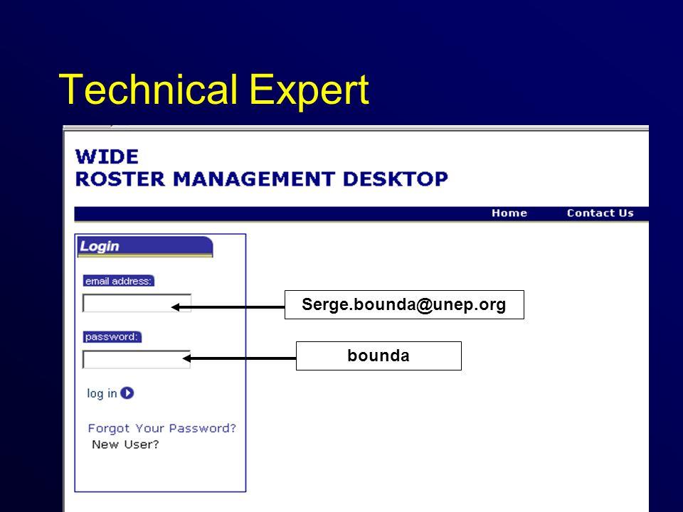 Technical Expert Serge.bounda@unep.org bounda