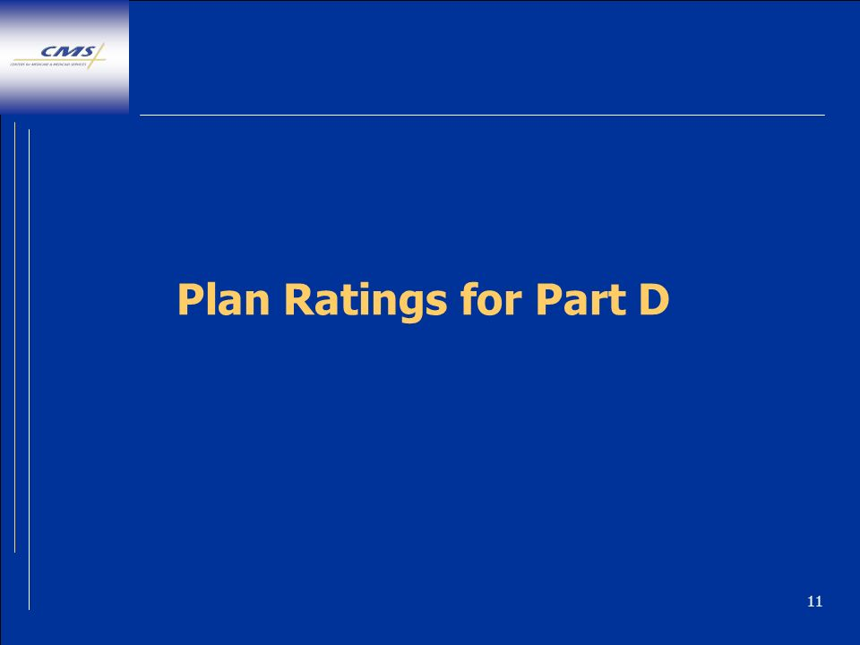11 Plan Ratings for Part D