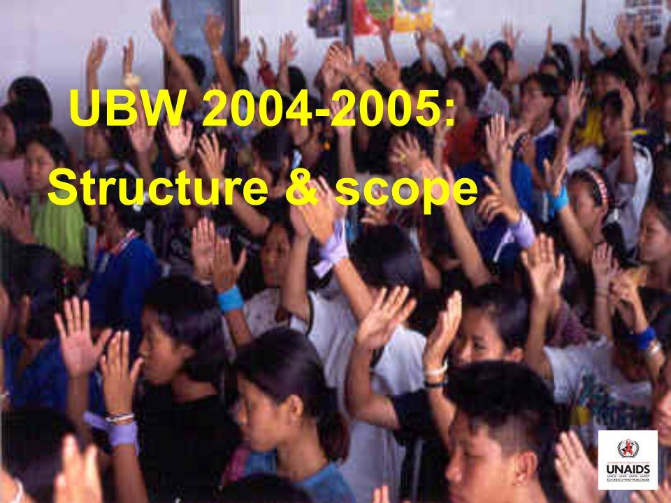 UBW 2004-2005: Structure & scope