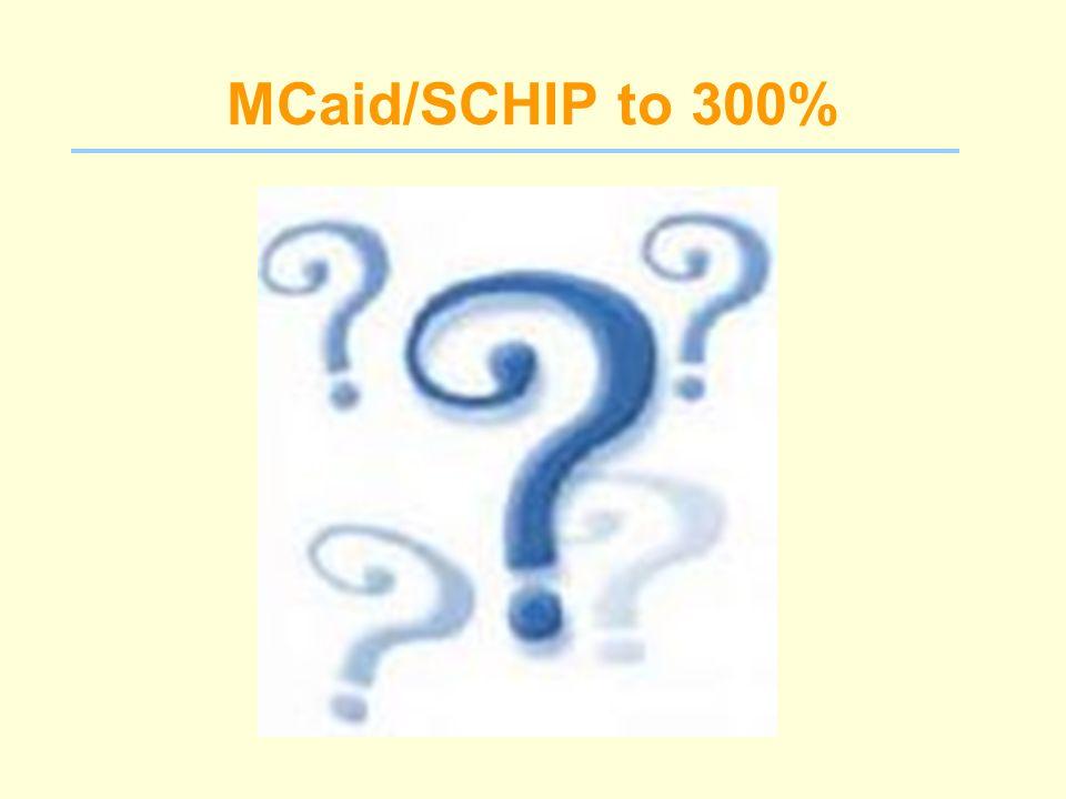 MCaid/SCHIP to 300%