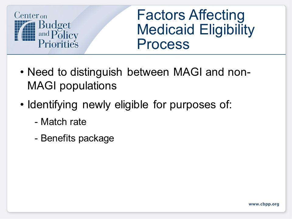 Some income now counted will not be counted -Child support received -Social Security benefits Some income not counted will be counted -Step-parent income when determining eligibility for children Impact of New Rules on Medicaid