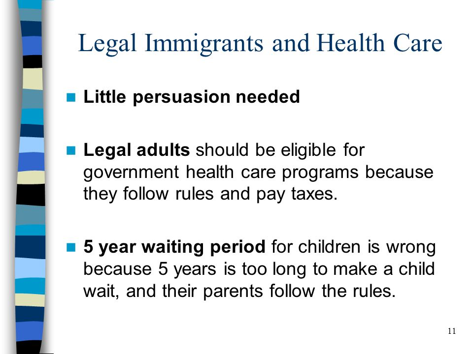 11 BELDEN RUSSONELLO & STEWART R E S E A R C H A N D C O M M U N I C A T I O N S 11 Legal Immigrants and Health Care Little persuasion needed Legal adults should be eligible for government health care programs because they follow rules and pay taxes.