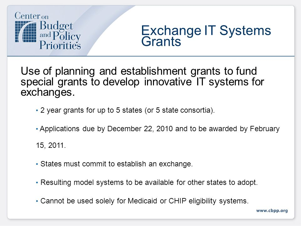 HHS is providing grants to states for any activities (including planning activities) related to establishing an Exchange.