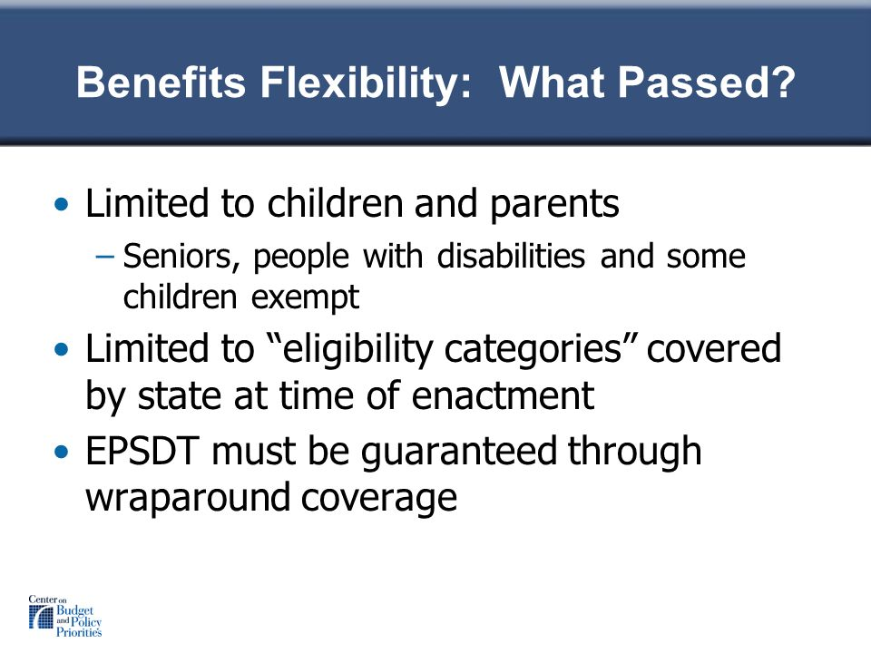 Benefits Flexibility: What Passed.