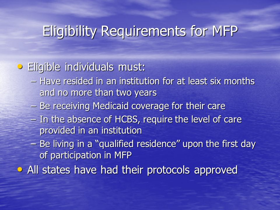 Vermonts Choices for Care Program Medicaid Coverage for NF v.