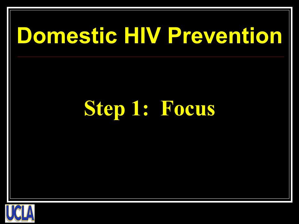 Step 1: Focus Domestic HIV Prevention