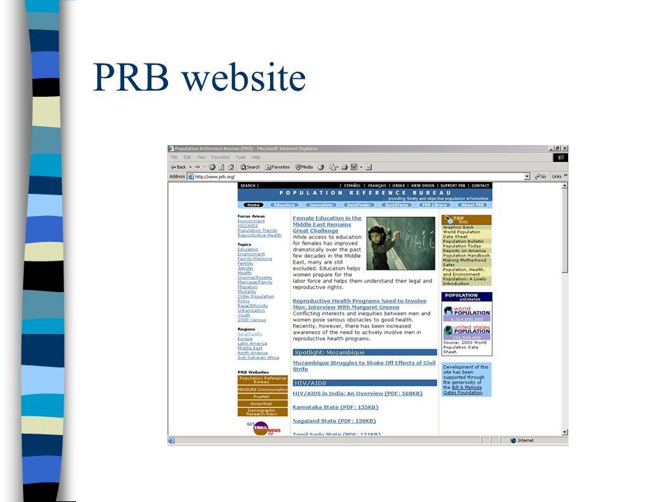 PRB website