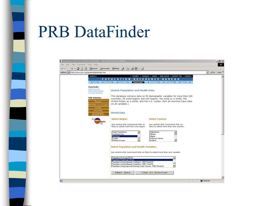 PRB DataFinder