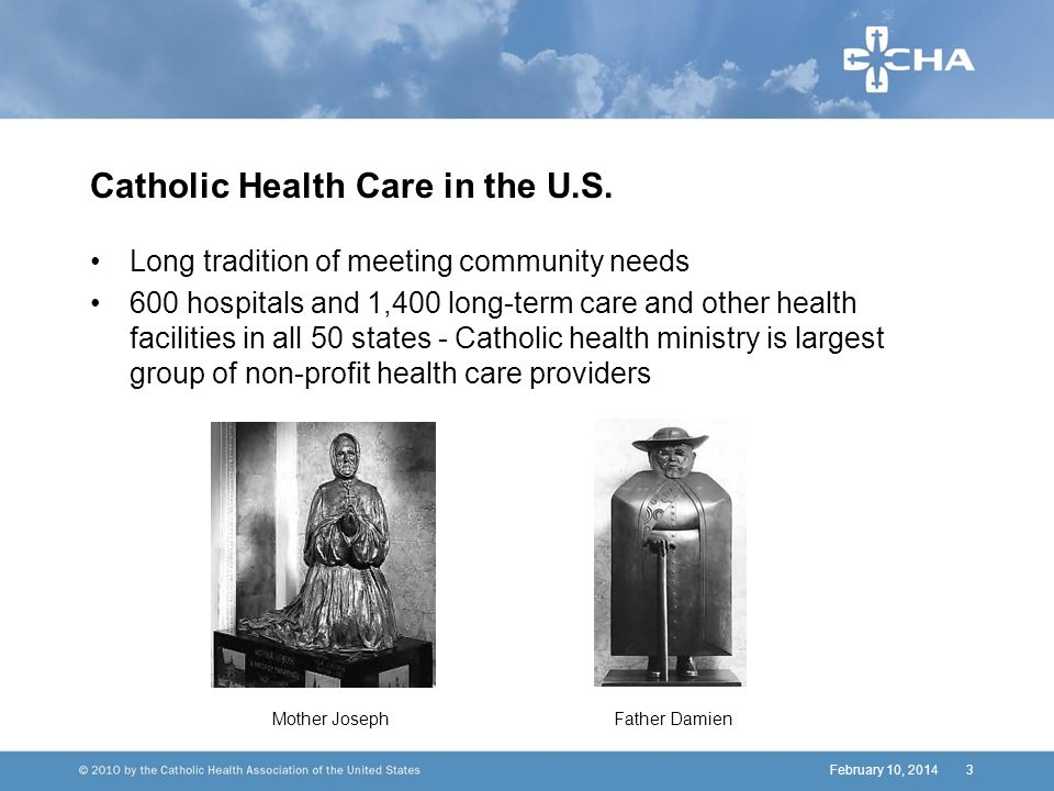 3 Catholic Health Care in the U.S.
