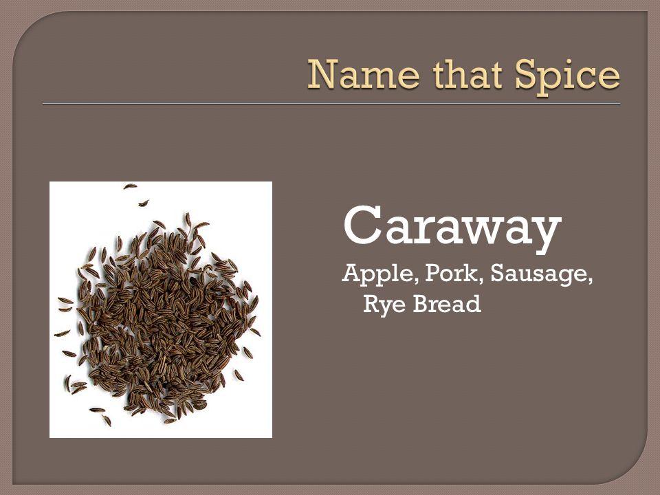 Caraway Apple, Pork, Sausage, Rye Bread