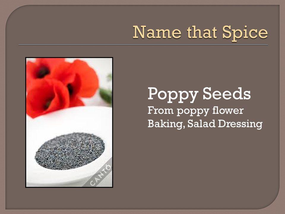 Poppy Seeds From poppy flower Baking, Salad Dressing