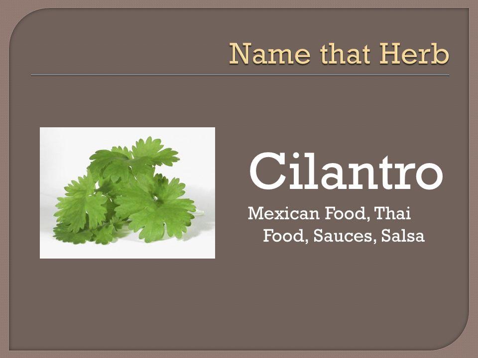 Cilantro Mexican Food, Thai Food, Sauces, Salsa