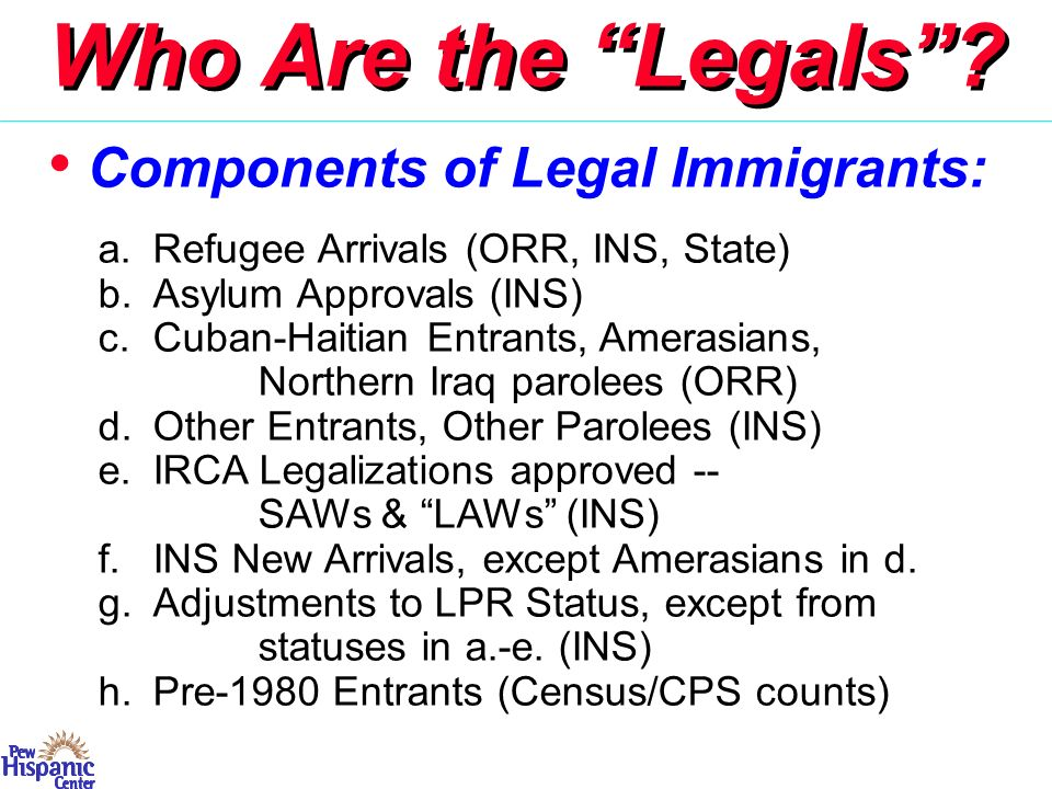 Not Legal or Non-Immigrants Overstays (40–45%) & EWIs Quasi-Legals, including: a.TPS & DED (esp.