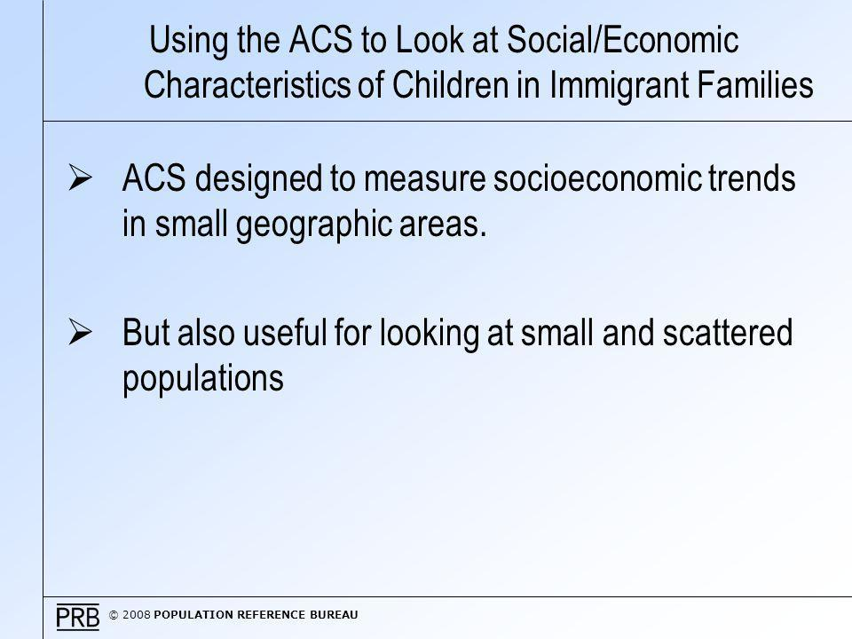© 2008 POPULATION REFERENCE BUREAU Children in Immigrant Families with High Demographic Risk Factors in Washington DC and Surrounding Area, 2006