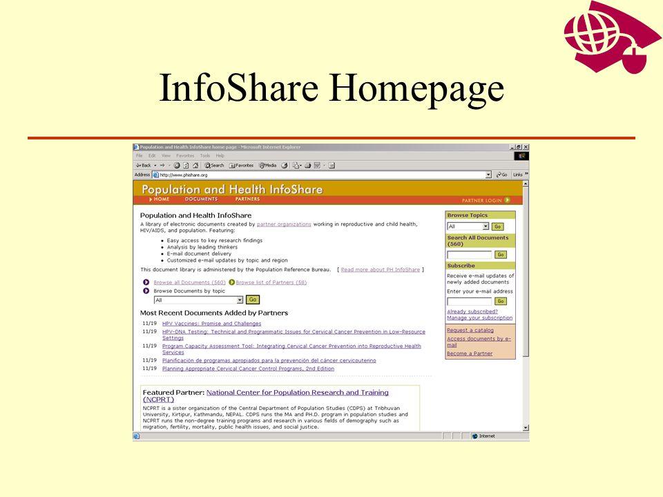 InfoShare Homepage