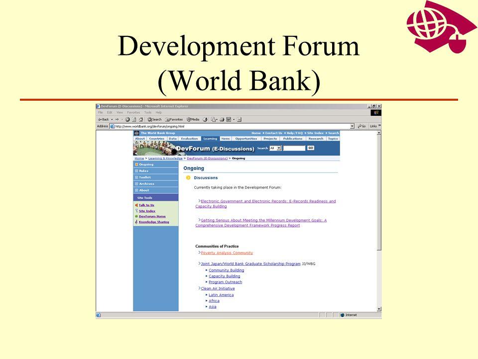 Development Forum (World Bank)