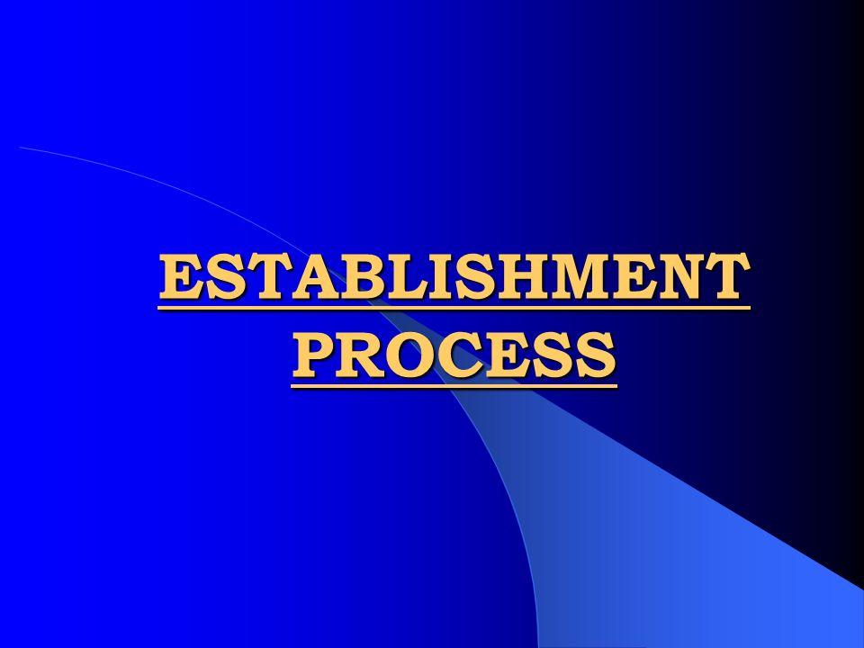 ESTABLISHMENT PROCESS