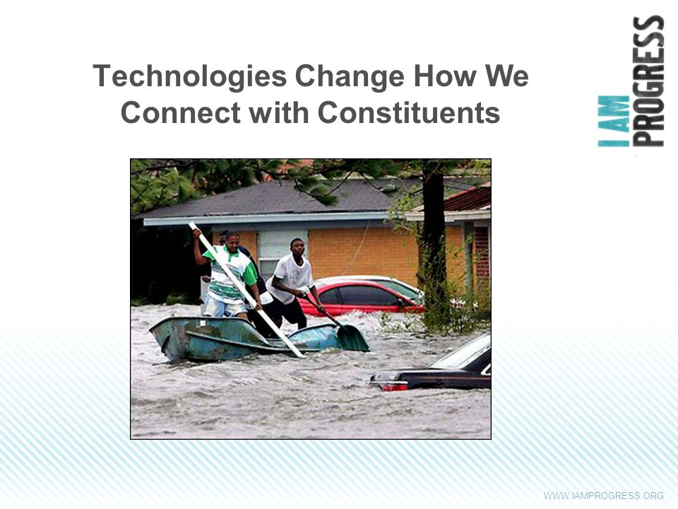 WWW.IAMPROGRESS.ORG Technologies Change How We Connect with Constituents