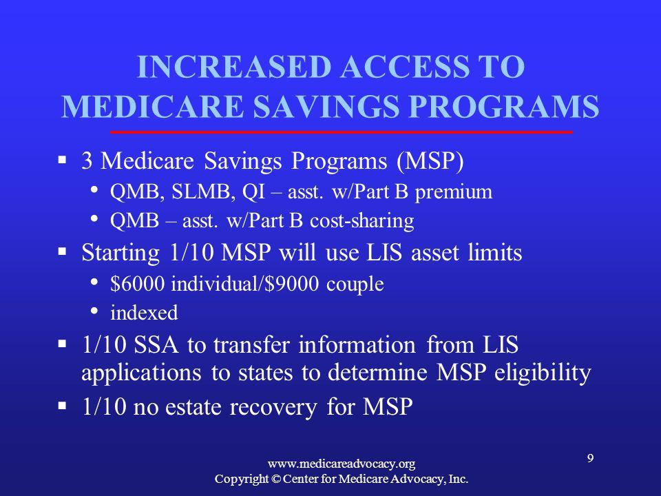 www.medicareadvocacy.org Copyright © Center for Medicare Advocacy, Inc.