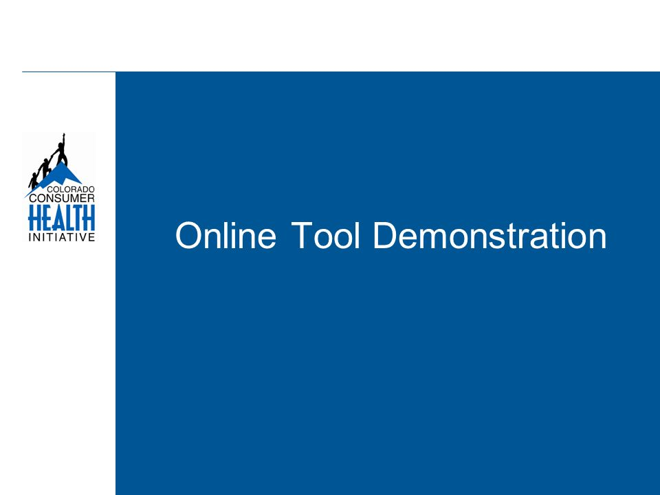 Online Tool Demonstration