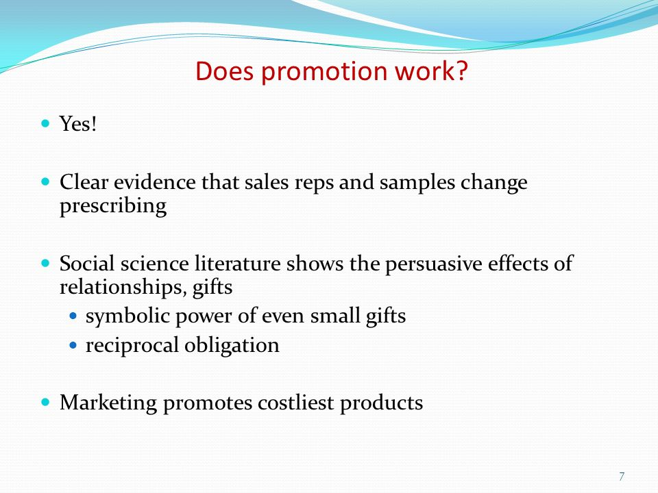 Does promotion work. Yes.