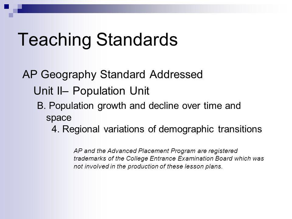 What is the Demographic Transition.