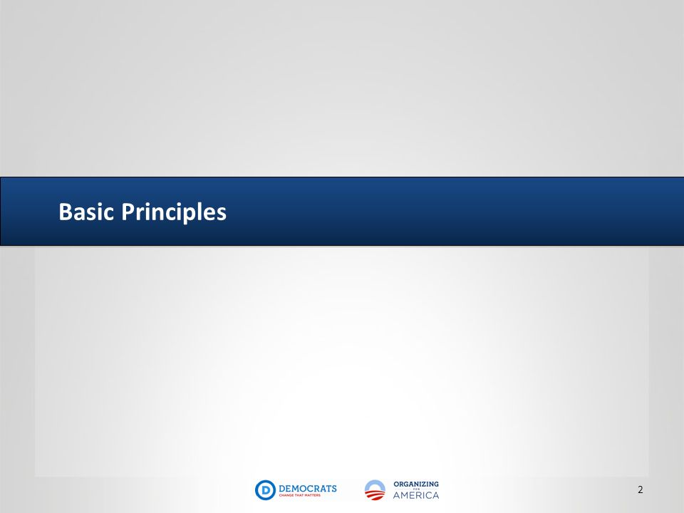 Basic Principles 2